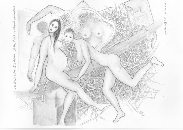 Eve et son autre côté Adam, Lilith et quelques bouts de Béatrice (série divine comédie)